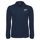 Fleece Full Zip Navy Jacket-NYIT College of Osteopathic Medicine - Horiontal