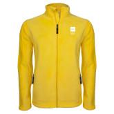 Fleece Full Zip Gold Jacket-NYIT College of Osteopathic Medicine - Vertical