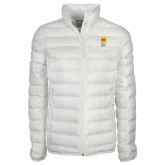 Columbia Lake 22 Ladies White Jacket-NYIT College of Osteopathic Medicine - Vertical