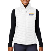 Columbia Lake 22 Ladies White Vest-NYIT College of Osteopathic Medicine - Horiontal