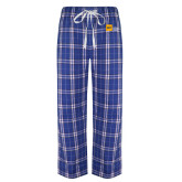 Royal/White Flannel Pajama Pant-NYIT College of Osteopathic Medicine - Horizontal