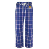 Royal/White Flannel Pajama Pant-NYIT College of Osteopathic Medicine - Vertical