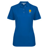 Ladies Easycare Royal Pique Polo-NYIT College of Osteopathic Medicine - Vertical