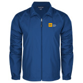 Full Zip Royal Wind Jacket-NYIT College of Osteopathic Medicine - Horizontal