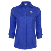 Ladies Red House French Blue 3/4 Sleeve Shirt-NYIT College of Osteopathic Medicine - Horizontal