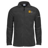 Columbia Full Zip Charcoal Fleece Jacket-NYIT College of Osteopathic Medicine - Horizontal