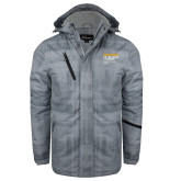 Grey Brushstroke Print Insulated Jacket-NYIT College of Osteopathic Medicine - Horiontal