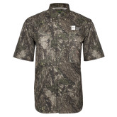 Camo Short Sleeve Performance Fishing Shirt-NYIT College of Osteopathic Medicine - Horizontal