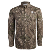 Camo Long Sleeve Performance Fishing Shirt-NYIT College of Osteopathic Medicine - Horizontal