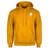 Gold Fleece Hoodie-NYIT College of Osteopathic Medicine - Vertical