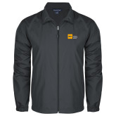 Full Zip Charcoal Wind Jacket-NYIT College of Osteopathic Medicine - Horizontal
