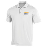 Under Armour White Performance Polo-NYIT College of Osteopathic Medicine - Horiontal