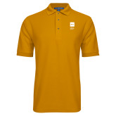 Gold Easycare Pique Polo-NYIT College of Osteopathic Medicine - Vertical