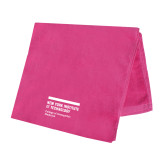 Pink Beach Towel-NYIT College of Osteopathic Medicine - Horiontal
