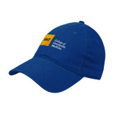 Royal Twill Unstructured Low Profile Hat-NYIT College of Osteopathic Medicine - Horizontal