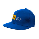 Royal OttoFlex Flat Bill Pro Style Hat-NYIT College of Osteopathic Medicine - Horizontal