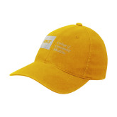 Gold Flexfit Mid Profile Hat-NYIT College of Osteopathic Medicine - Horizontal
