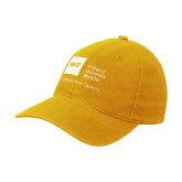 Gold Flexfit Mid Profile Hat-College of Osteopathic Medicine at Arkansas