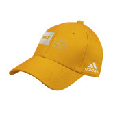 Adidas Gold Structured Adjustable Hat-NYIT College of Osteopathic Medicine - Horizontal