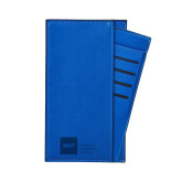 Parker Blue RFID Travel Wallet-NYIT College of Osteopathic Medicine - Horizontal Engraved