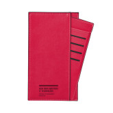 Parker Red RFID Travel Wallet-NYIT College of Osteopathic Medicine - Horiontal Engraved