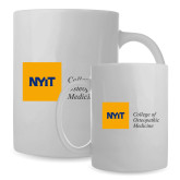Full Color White Mug 15oz-NYIT College of Osteopathic Medicine - Horizontal