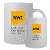 Full Color White Mug 15oz-NYIT College of Osteopathic Medicine - Vertical
