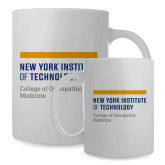Full Color White Mug 15oz-NYIT College of Osteopathic Medicine - Horiontal