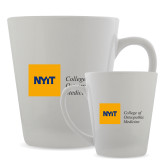 Full Color Latte Mug 12oz-NYIT College of Osteopathic Medicine - Horizontal