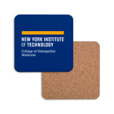 Hardboard Coaster w/Cork Backing-NYIT College of Osteopathic Medicine - Horiontal