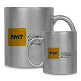 Full Color Silver Metallic Mug 11oz-NYIT College of Osteopathic Medicine - Horizontal