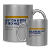 Full Color Silver Metallic Mug 11oz-NYIT College of Osteopathic Medicine - Horiontal