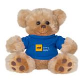 Plush Big Paw 8 1/2 inch Brown Bear w/Royal Shirt-NYIT College of Osteopathic Medicine - Horizontal