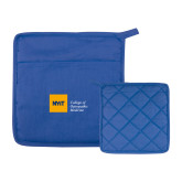 Quilted Canvas Royal Pot Holder-NYIT College of Osteopathic Medicine - Horizontal