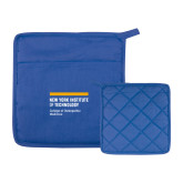 Quilted Canvas Royal Pot Holder-NYIT College of Osteopathic Medicine - Horiontal