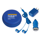 3 in 1 Royal Audio Travel Kit-NYIT College of Osteopathic Medicine - Horiontal