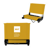 Stadium Chair Gold-NYIT College of Osteopathic Medicine - Vertical