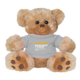 Plush Big Paw 8 1/2 inch Brown Bear w/Grey Shirt-NYIT College of Osteopathic Medicine - Horiontal
