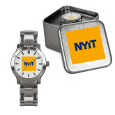 Mens Stainless Steel Fashion Watch-NYIT Logo