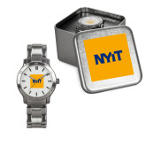 Ladies Stainless Steel Fashion Watch-NYIT Logo