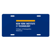 License Plate-NYIT College of Osteopathic Medicine - Horiontal