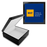Ebony Black Accessory Box With 6 x 6 Tile-NYIT College of Osteopathic Medicine - Horizontal