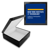 Ebony Black Accessory Box With 6 x 6 Tile-NYIT College of Osteopathic Medicine - Horiontal