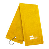 Gold Golf Towel-NYIT College of Osteopathic Medicine - Horizontal