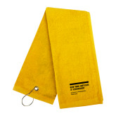 Gold Golf Towel-NYIT College of Osteopathic Medicine - Horiontal