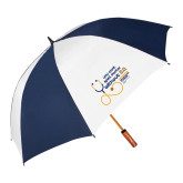 62 Inch Navy/White Vented Umbrella-You cant spell Doctor without D.D.