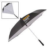 48 Inch Auto Open Black/White Inversion Umbrella-NYIT College of Osteopathic Medicine - Horiontal