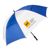 62 Inch Royal/White Vented Umbrella-College of Osteopathic Medicine at Arkansas