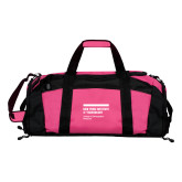 Tropical Pink Gym Bag-NYIT College of Osteopathic Medicine - Horiontal