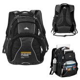 High Sierra Swerve Black Compu Backpack-NYIT College of Osteopathic Medicine - Horiontal